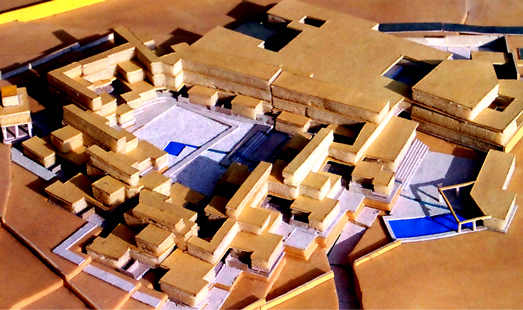 Aditi Raychoudhury. Site Model. Luxury resort, Jaisalmer, India. 1994.