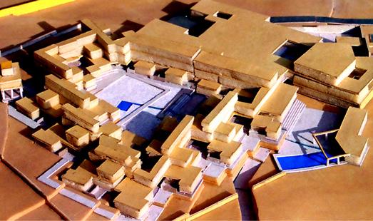 Aditi Raychoudhury. Site Model. Luxury resort, Jaisalmer, India. 1994.