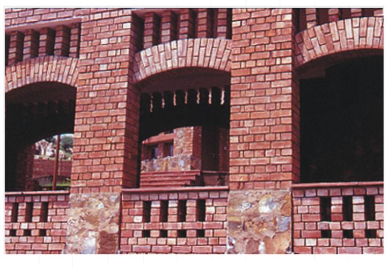 Detail. Children's Retreat, New Delhi, India. 1996.