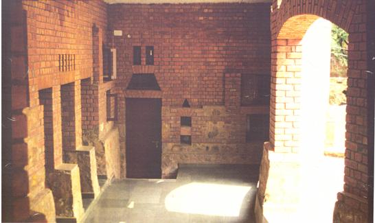 Covered Patio of Dormitory Cluster. Children's Retreat, New Delhi, India. 1996.