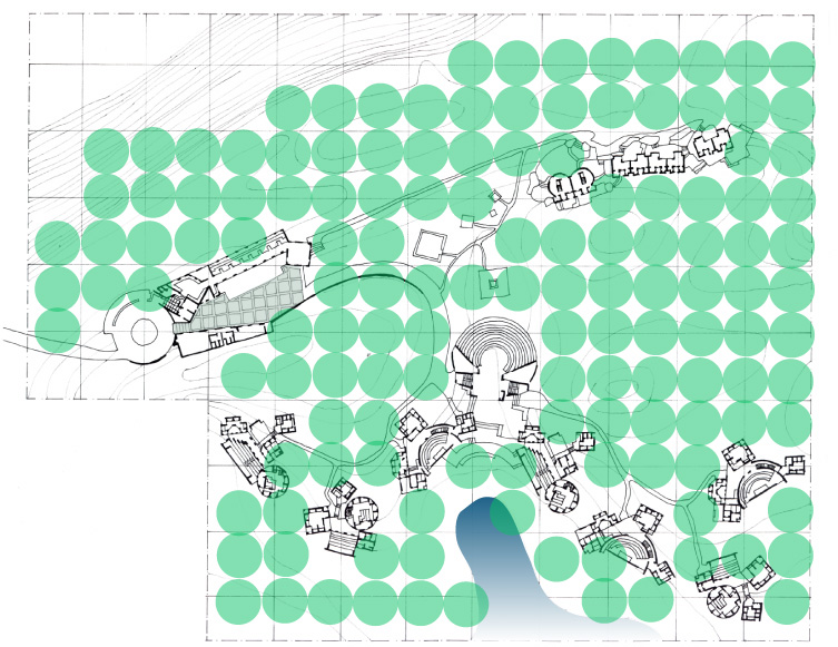 Site Plan. Children's Retreat, New Delhi, India. 1996.