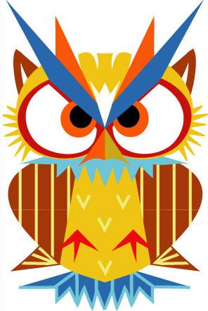 Aditi Raychoudhury. Mama Owl. 2009. Adobe Illustrator CS.
