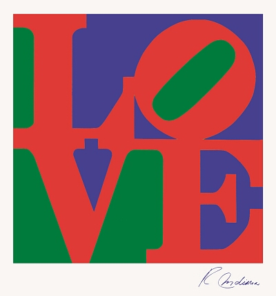 Robert Indiana. Love. 1967. Serigraph.