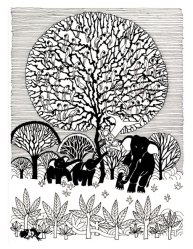Aditi Raychoudhury. Tree of Life. Pen and Ink. 1998.