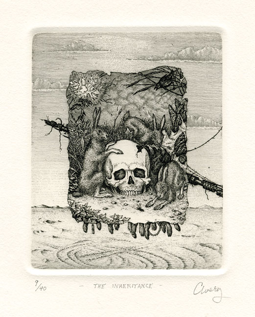 David Avery. The Inheritance. Etching. 2000.