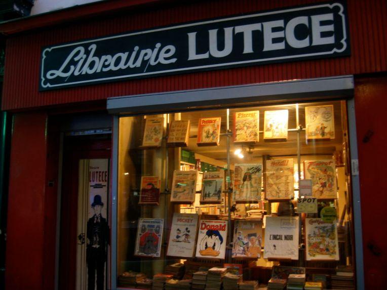 Librairie Lutèce. 29 Rue Monge, Paris. Photo Credit: Aditi Raychoudhury, 2005