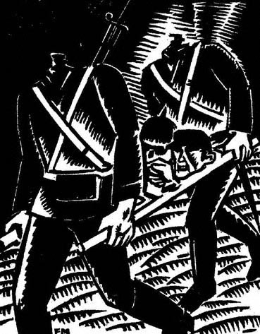 Frans Masereel. Arise, You Dead. 1917. Woodcut.