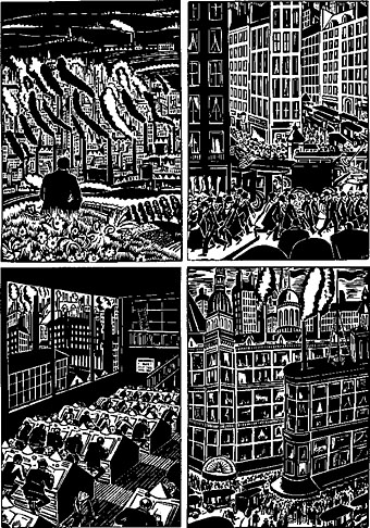 Frans Masereel. The City. 1925. Woodcut.