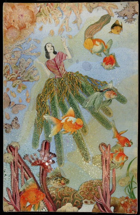 Joseph Cornell. Untitled (Marine Fantasy with Tamara Toumanova). Early 1940s.