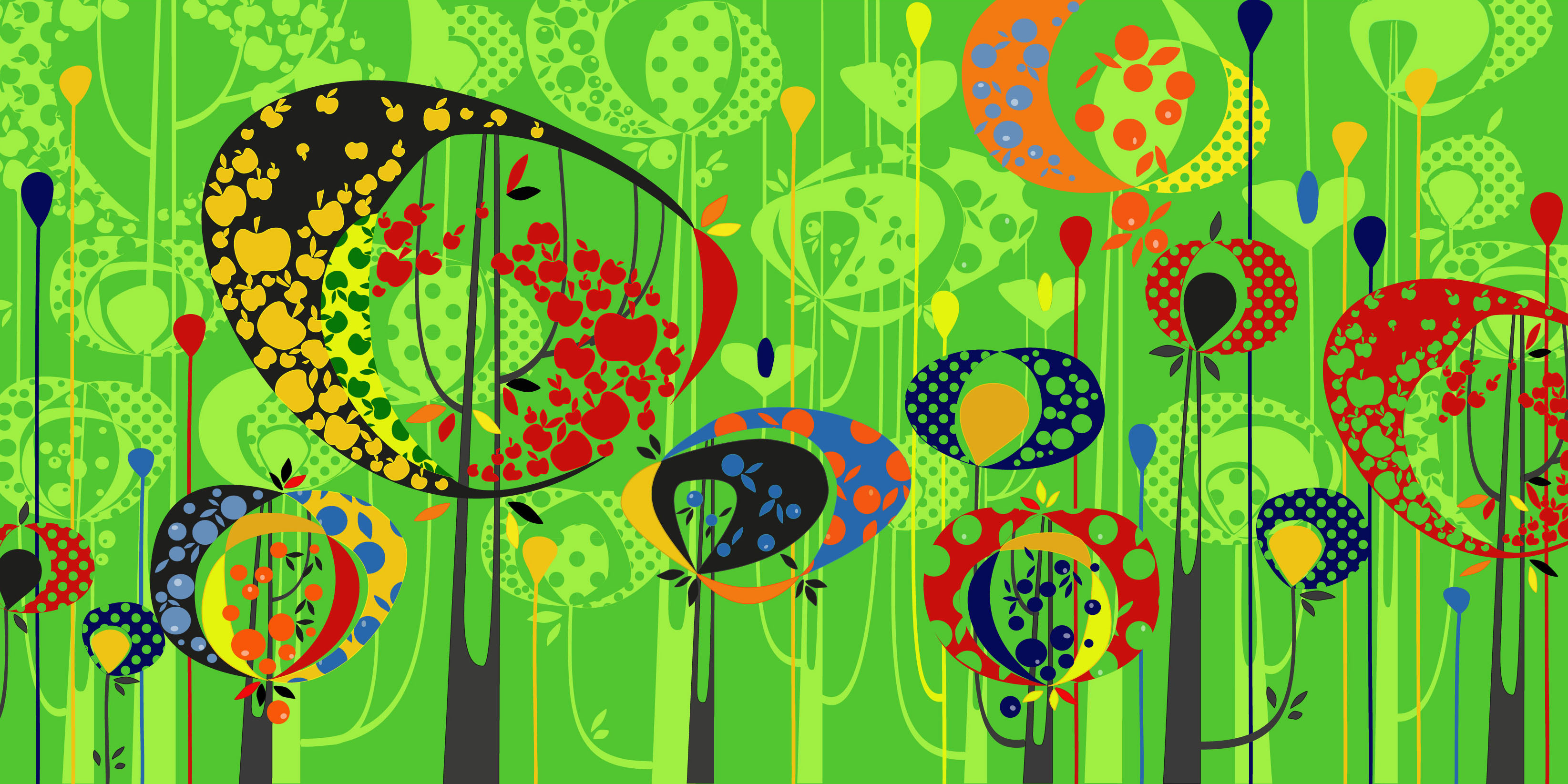 Aditi Raychoudhury. Land of Plenty. Adobe Illustrator CS. 2009.