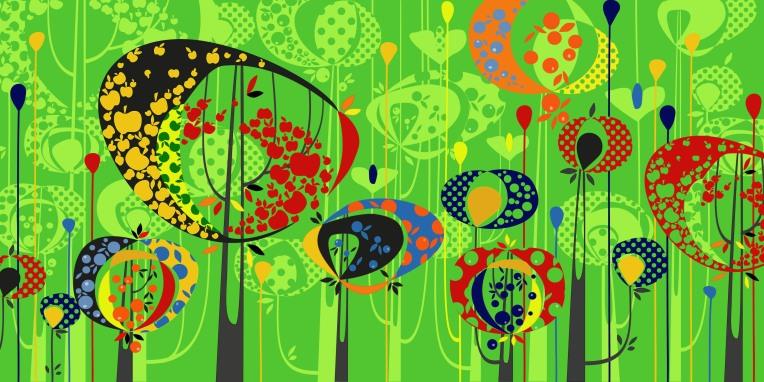 Aditi Raychoudhury. Land of Plenty. Adobe Illustrator CS. 2009.