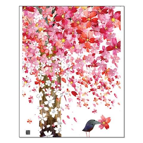 Masha D'Yans. Cherry Tree and Bird.