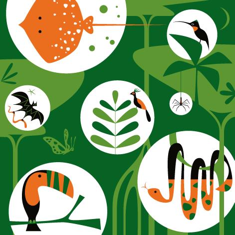 Michael Bartalos. Rain Forest. (For the California Academy of Sciences, San Francisco)