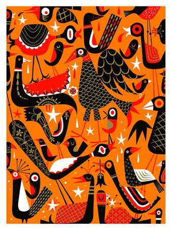 Tim Biskup. Bird Virus. 2004. Serigraph.
