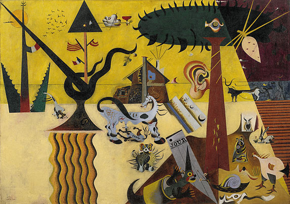 Joan Miro. The Tilled Field. 1923.