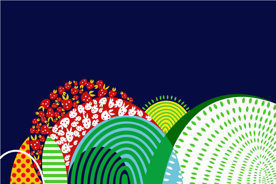 "Aditi Raychoudhury. Bushes. 2009. 6"" x 4"". Adobe Illustrator CS."