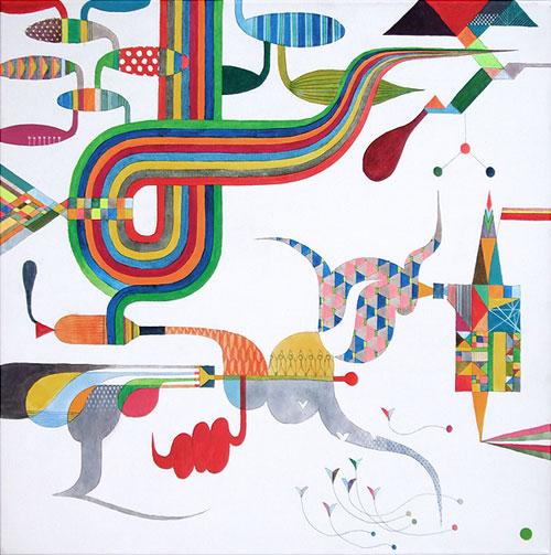 "Takashi Iwasaki. Gemmidakosasanouzu. Acrylic on Canvas. 20"" x 20"". 2008."