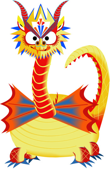 Aditi Raychoudhury. Wicked Dragon. 2009. Adobe Illustrator CS.