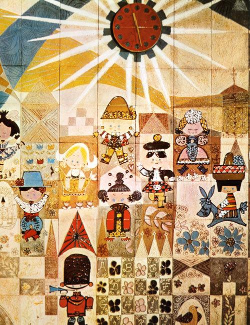 Mary Blair. Tomorrowland. 1967. Tile Mural.