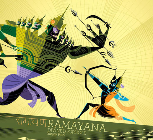 Sanjay Patel. Ramayana Book Cover. Chronicle Books. 2010.
