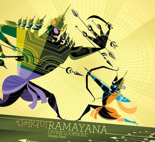 Sanjay Patel. Ramayana Book Cover. Chronicle Books. 2010.