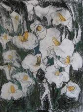 "Aditi Raychoudhury. Forbidden Portent Charcoal Study. 2006. Charcoal on Paper. 14"" x 17""."