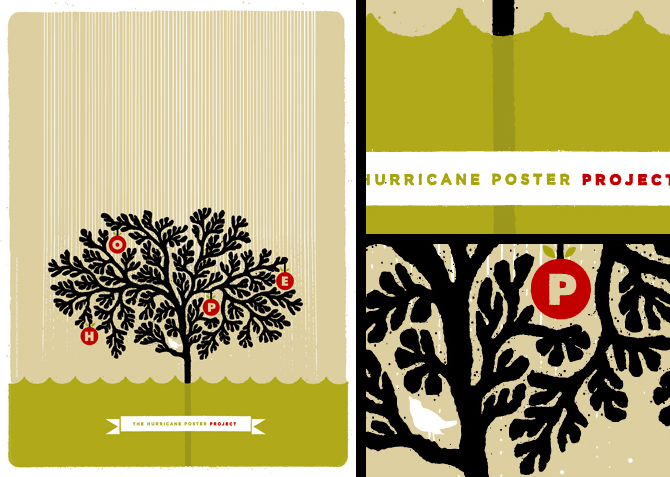 Hope. 18″ × 24″ poster. CLIENT: Hurricane Poster Project