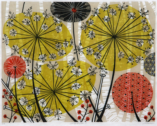 Angie Lewin. Spey Path 1. Screenprint.