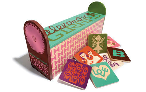 Alexander Girard. Memory Game. Wood and Paint.