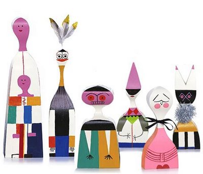 Alexander Girard. Vitra Dolls. 1963. Wood and Paint.