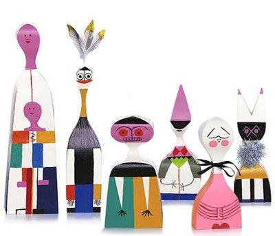 Alexander Girard. Vitra Dolls. 1963. Wood and Paint.