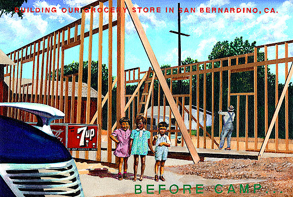 Ben Sakugochi. Post Cards from Camp: Building Our Grocery Store. 16