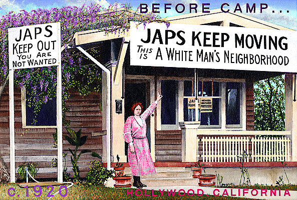 Ben Sakugochi. Post Cards from Camp: White Man's Neighbourhood. 16