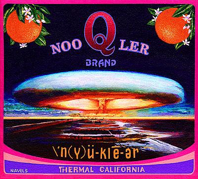 Ben Sakoguchi. Orange Crate Label Series: Noo Q Ler Brand. 1995. Acrylic on Canvas. 10