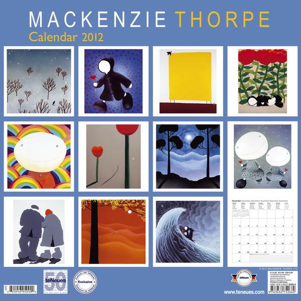 Mackenzie Thorpe. 2012 Calendar (Back) by TeNeues.