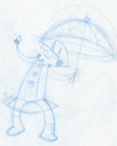 Aditi Raychoudhury. Smarty Pants Girl. 2013. Pencil.