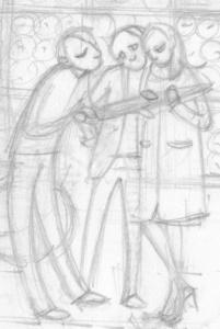 Trio. 2013. Pencil.