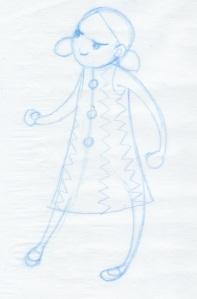 Aditi Raychoudhury. Runaway Girl. 2013. Pencil on Paper.