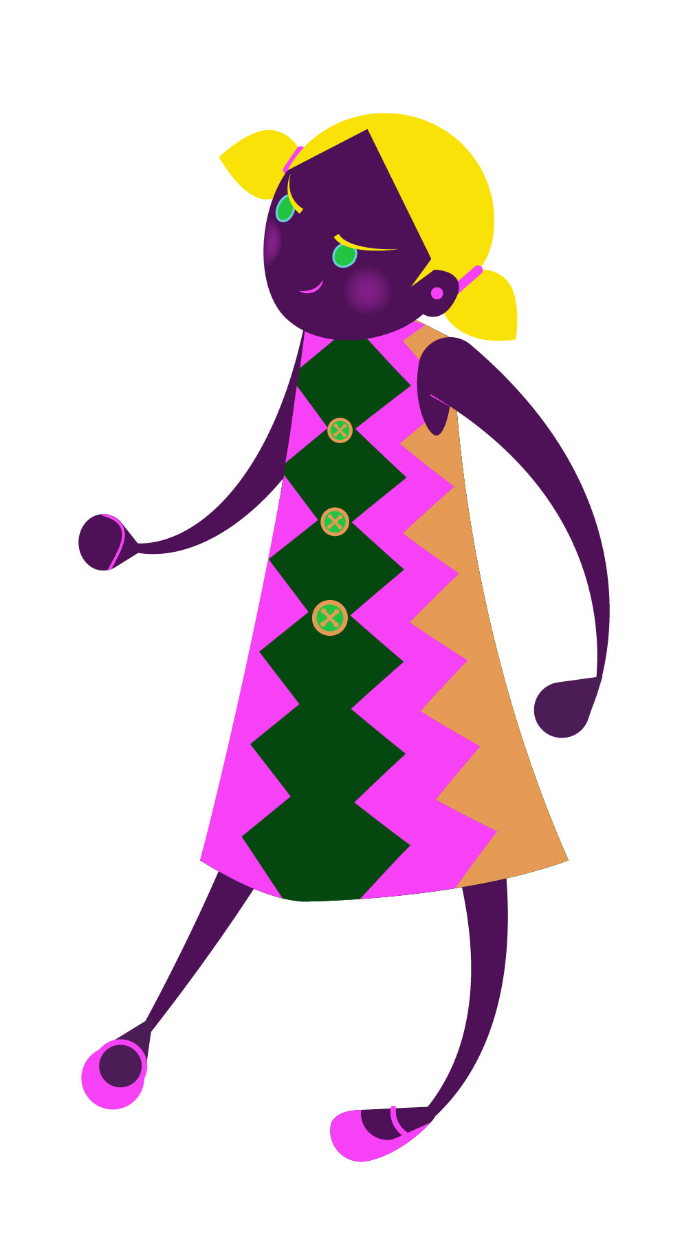 Aditi Raychoudhury. Close-up of Runaway Girl. 2013. Adobe Illustrator.