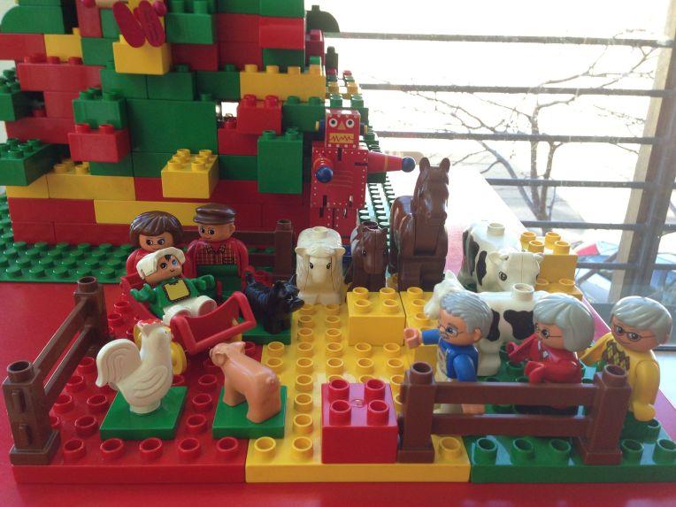 Aditi Raychoudhury. Nativity Scene. 2013. Lego Duplo.