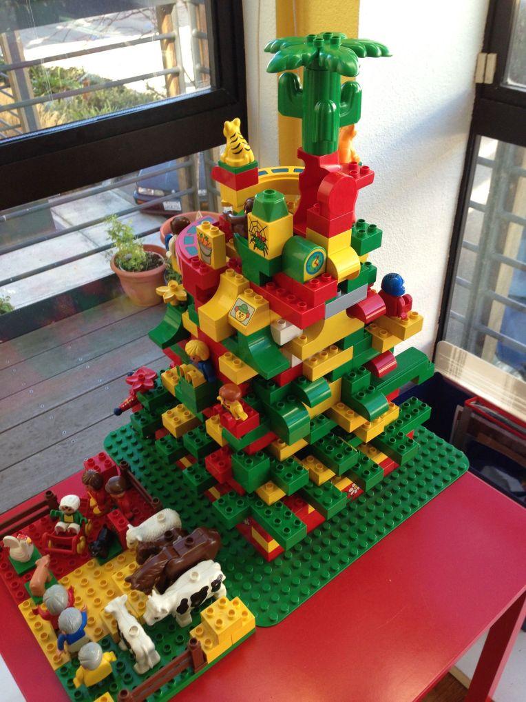 Aditi Raychoudhury. Ramble Jamble Lego Xmas Tree. 2013. Lego Duplo.