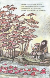 The man in the wilderness asked me. Arnold Lobel. 1986. Graphite, ink, and watercolor on paper.