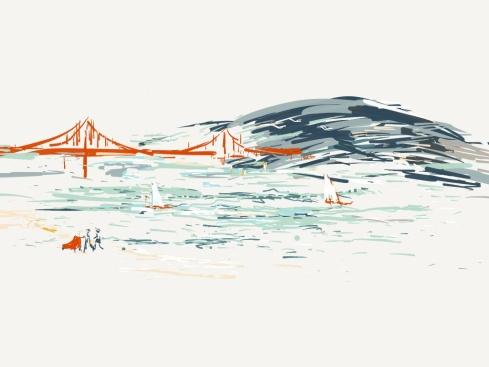 I love you, Fair City. Aditi Raychoudhury. 2/2014. iPad drawing using Paper by 53.