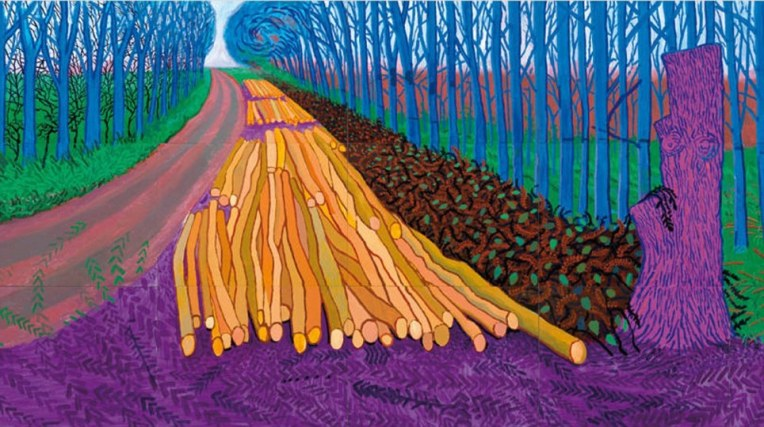 Winter Timber. David Hockney. 2009. iPad Art (Brushes App)