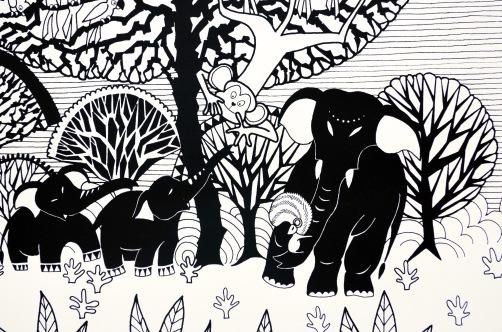 Aditi Raychoudhury. Tree of Life (Detail). 2014. Limited Edition Screenprint.