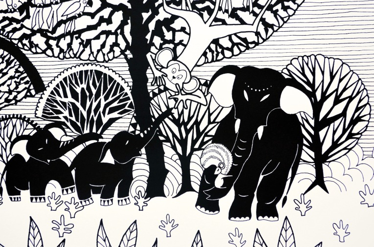 Aditi Raychoudhury. Tree of Life (Detail). 2014. Limited Edition Screenprint.