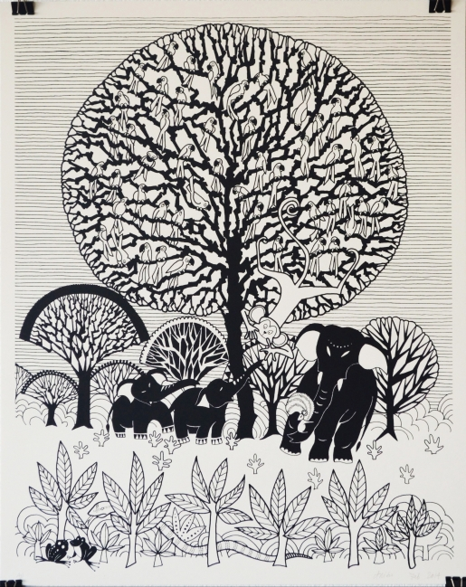 Aditi Raychoudhury. Tree of Life. 2014. Limited Edition Screenprint.