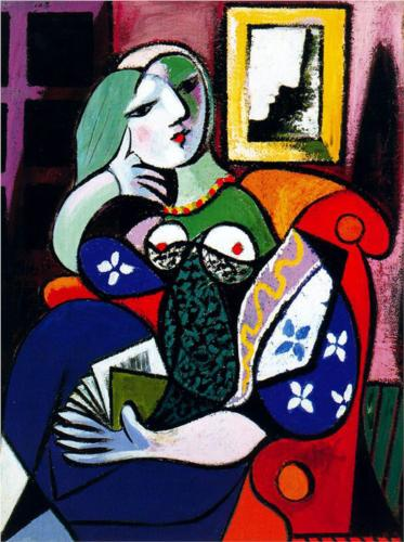 Pablo Picasso. Woman with a Book. 1932. Oil on Canvas.