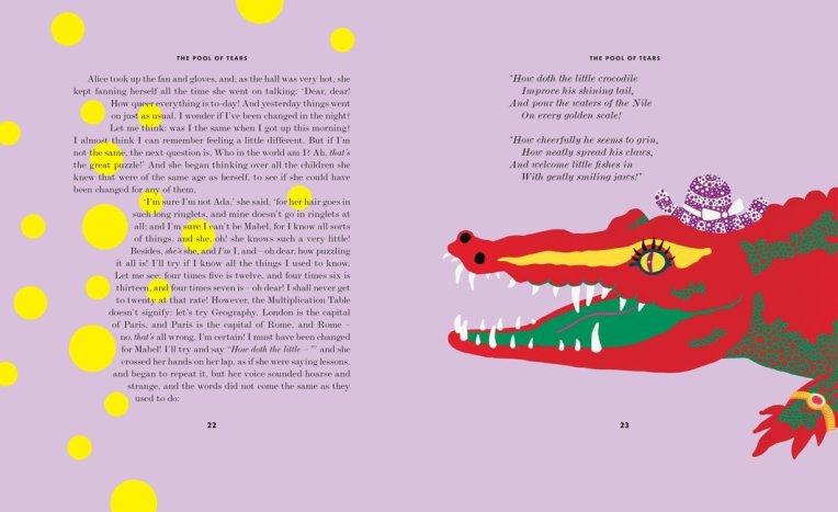 Yayoi Kusama. Illustration from Alice in Wonderland. Penguin, 2012. Source: Amazon.com