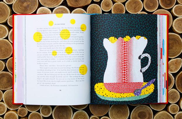 Yayoi Kusama. Illustration from Alice in Wonderland. Penguin, 2012. Source: Bainpickings.org